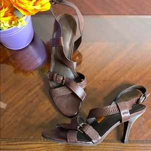 Unisa Genuine Leather Strap Heels
